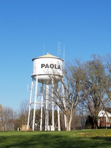 Paola Kansas Water Tower Old